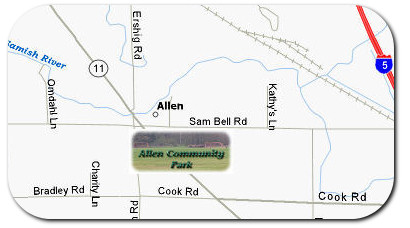 Allen Community Park Location Map